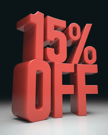 retailers: 3D image concept of promotion, rebate on your purchases. Clipping path included.
