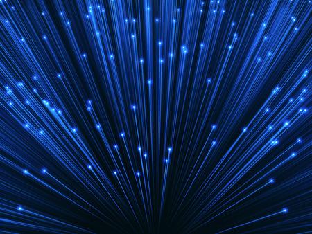 3D-beeld concept van de optische vezel. Glanseffect op de uiteinden van de optische vezel.