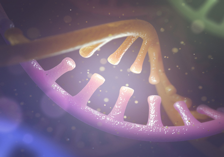 guanine: 3D image concept of DNA and RNA molecules.
