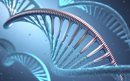 modification: 3D illustration, concept of genetic engineering or genetic modification. Stock Photo