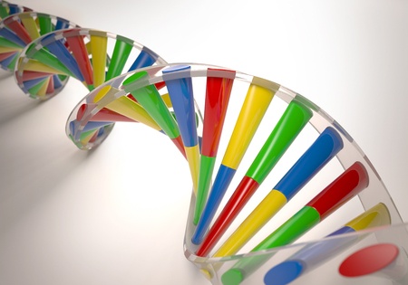 modification: 3D illustration, colorful dna, concept of genetic engineering or genetic modification.