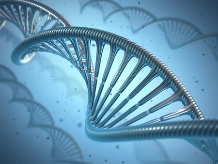 synthetic: 3D illustration, concept of genetic engineering or genetic modification. Stock Photo