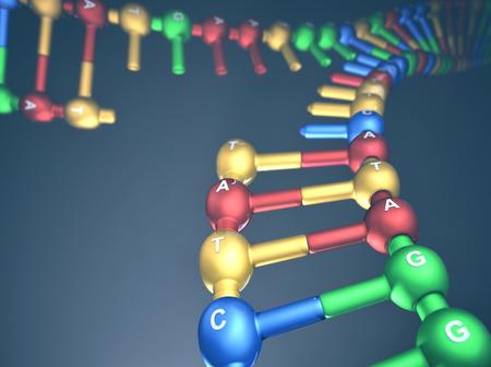 3 D イラスト、DNA 複製 (複製フォーク) の概念。