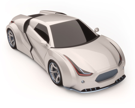 reference: 3D illustration, concept car without reference based on real vehicles. Clipping path included.