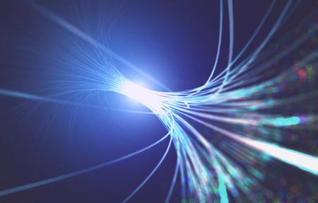 3D illustration. Abstract background fiber optic. Standard-Bild