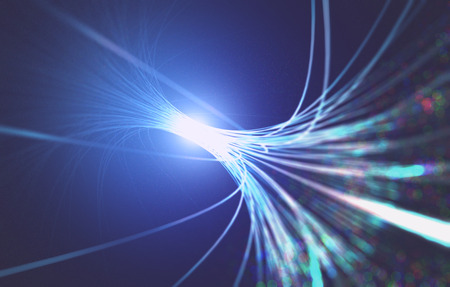 3D illustration. Abstract background fiber optic. Stock Photo