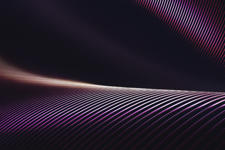 Abstract 3D illustration, twisted structure and folded into colors and shadows. Stock Photo