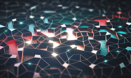 Artificial intelligence, connections and nucleus in concept of interconnected neurons. Abstract background with binary numbers, neural network and cloud computing. Stock Photo