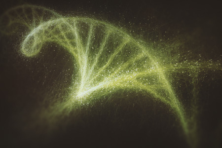 living organisms: Deoxyribonucleic acid (DNA), molecule that carries the genetic instructions of the development, functioning and reproduction of all living organisms and virus. Stock Photo