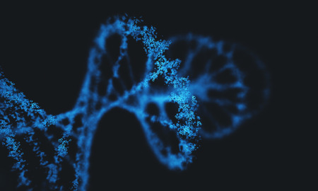 mutation: Deoxyribonucleic acid (DNA), molecule that carries the genetic instructions of the development, functioning and reproduction of all living organisms and virus. Stock Photo