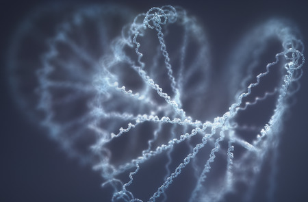 Deoxyribonucleic acid (DNA), molecule that carries the genetic instructions of the development, functioning and reproduction of all living organisms and virus. Stock Photo