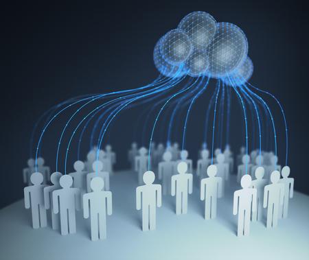 人々 の処理リソースおよびコンピューターにデータを共有のコンピューターを通じて世界 interconected、クラウド ・ コンピューティングします。3 D