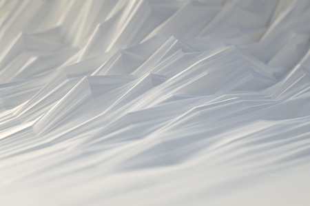 folded paper: 3D illustration. Abstract background, concept of folded paper waves. Stock Photo