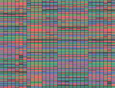 Illustration of a method of colored DNA sequencing.