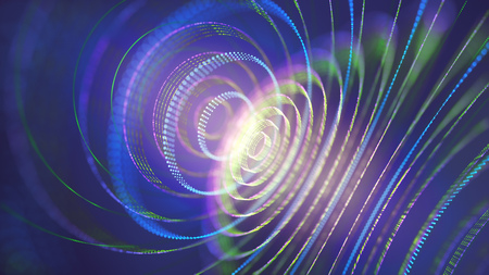 3D illustration. Abstract concept image of energy and mysteries of the universe.
