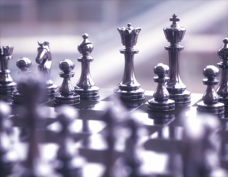 체스 게임, 필드의 얕은 깊이 사용 하여 이미지의 조각.
