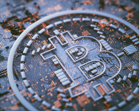 Cryptocurrency bitcoin business. Crypto currency digital money. Global business network market, modern currency exchange peer to peer. Financial business concept. Stock Photo