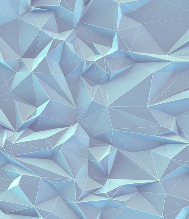 3D illustration. Abstract background image, connections in lines and geometric triangular shapes. Colorful vintage pastel.