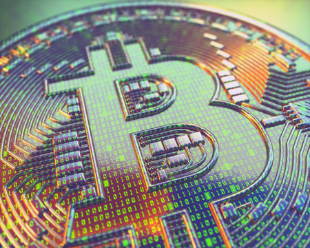 Cryptocurrency bitcoin business. Cryptocurrency digital money. Financial business concept. Stock Photo