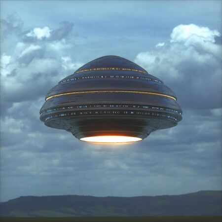 Science Fiction image concept of ufology and life out of planet Earth.
