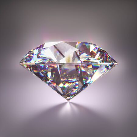 Giant diamond gem with clipping mask. 免版税图像