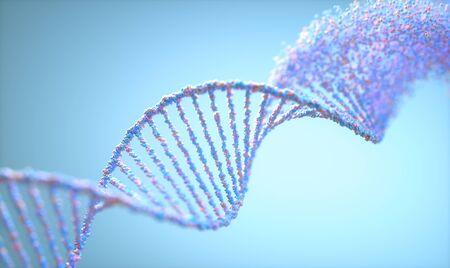 Molécula de ADN de síndrome genético y trastorno genético.
