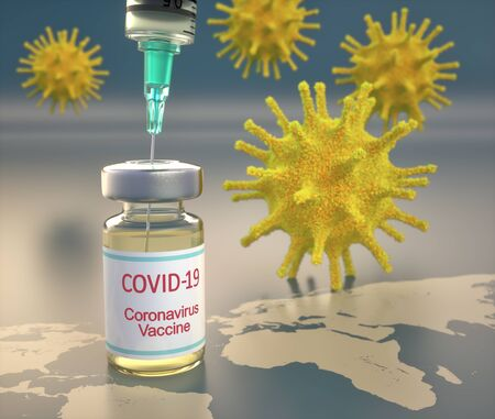 Conceptual image for the discovery of a vaccine for the Covid-19
