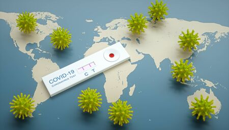 Rapid test for Coronavirus. Concept image of the new pandemic virus.