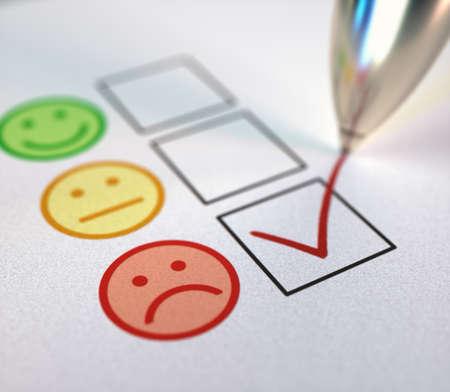 Negative check mark on customer service satisfaction.