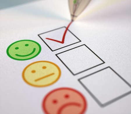 Positive check mark on customer service satisfaction.