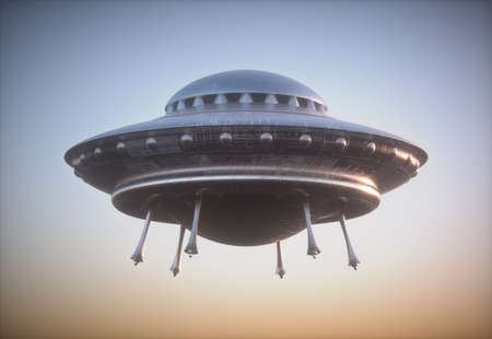 Unidentified Flying Object - UFO. Clipping path included. 写真素材