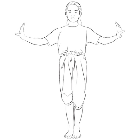 thai dance: traditional Thai dancer called   TANG-WONG-KLANG   Body language the art of Thai dance