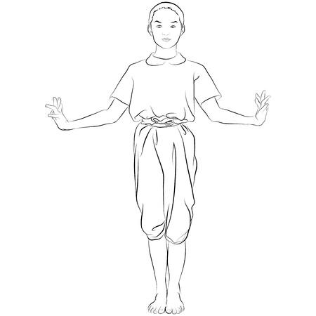 thai dance: traditional Thai dancer  Body language the art of Thai dance Called