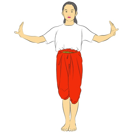 Vector of traditional Thai dancer called  Vector