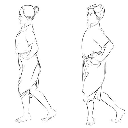 thai dance: body language, the art of Thai dance traditional called