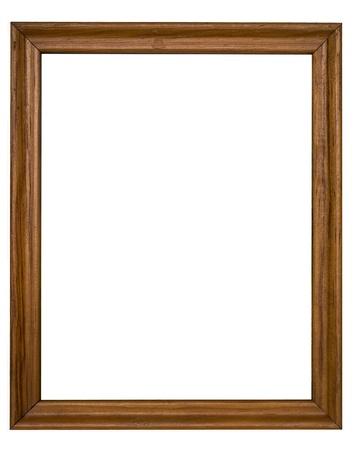 marcos decorados: marco de madera aisladas sobre fondo blanco Foto de archivo