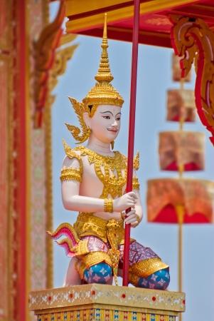 bejaratana: Angel statue, Cremation of Her Royal Highness Princess Bejaratana at Sanam-Luang, Bangkok, Thailand