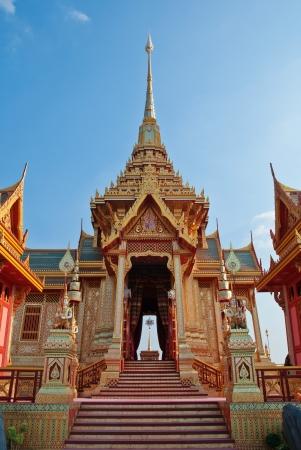 crematorium: Landscape of crematorium entrance for funeral ceremony of HRH Princess Bejaratana Rajasuda at Sanam Luang in Bangkok, Thailand