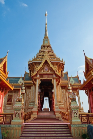 bejaratana: Landscape of crematorium entrance for funeral ceremony of HRH Princess Bejaratana Rajasuda at Sanam Luang in Bangkok, Thailand