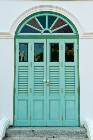 The old door was newly painted  Stock Photo - 18246776