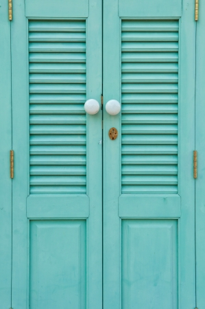 The old door was newly painted Stock Photo - 18246772