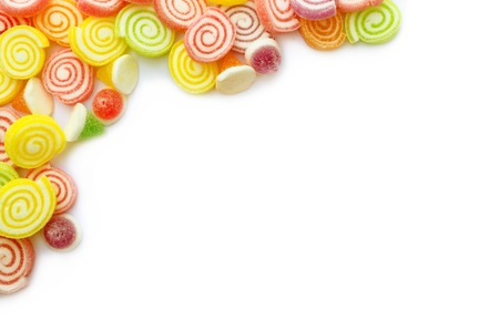 Colorful candy on white background  photo