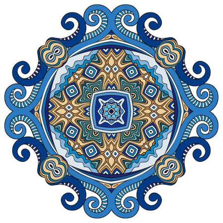 Vector decorative ornamental flower illustration Ilustración de vector