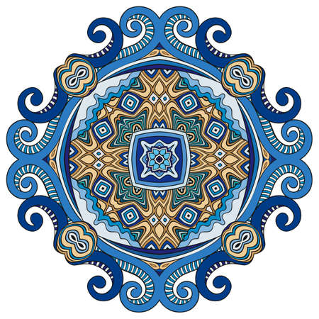 Vector decorative ornamental flower illustration Vetores