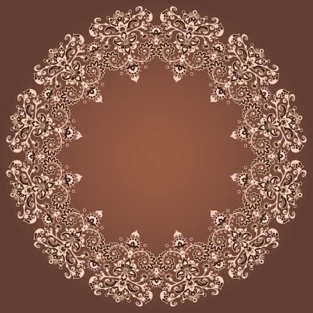 Vector ornamental nature vintage border