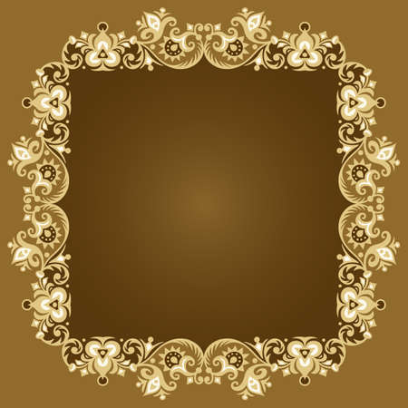 Vector ornamental nature vintage frame