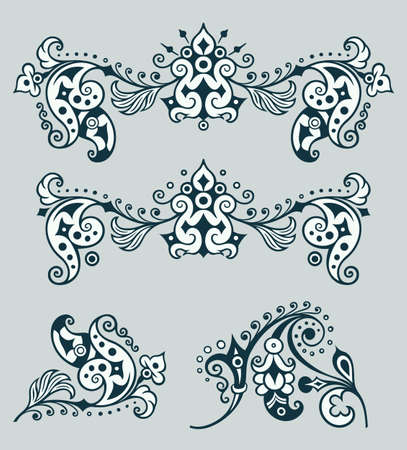 Vector ornamental vintage design elements Ilustrace