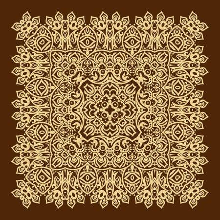 Vector floral ethnic ornamental illustration Vecteurs