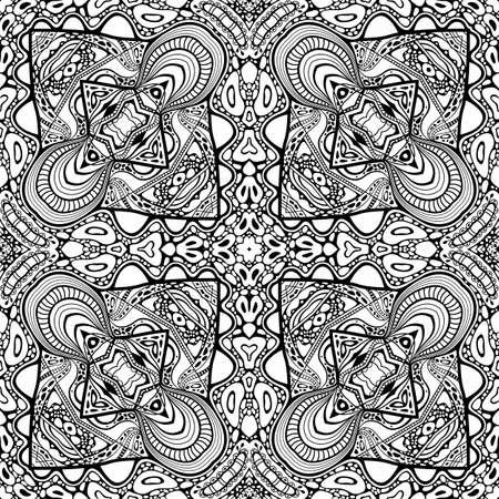 Vector abstract modern cartoon seamless pattern