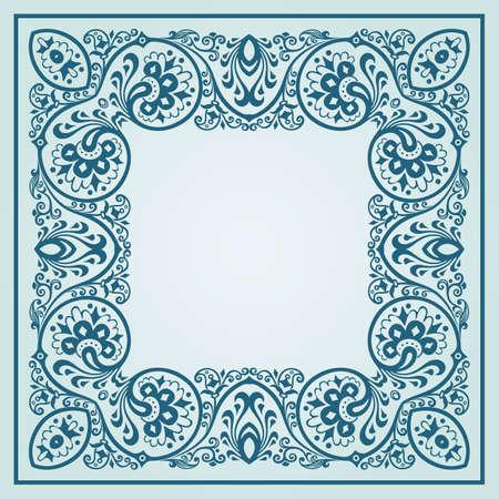 Vector floral ethnic ornamental illustration Vetores
